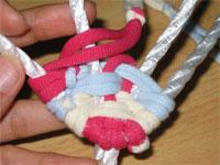 3色ネクタイ編み!(布ぞうりの編み方) 24
