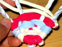 3色ネクタイ編み!(布ぞうりの編み方) 26