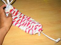 3色ネクタイ編み!(布ぞうりの編み方) 29