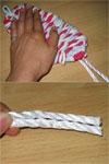 3色ネクタイ編み!(布ぞうりの編み方) 31