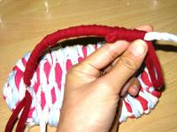 3色ネクタイ編み!(布ぞうりの編み方) 43
