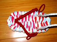 3色ネクタイ編み!(布ぞうりの編み方) 45