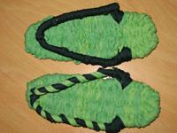 グリーンの布ぞうり