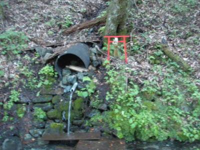 林道の水場