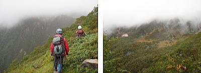登山道から千畳敷