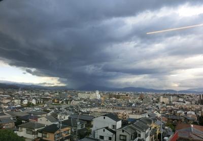 比叡山と台風