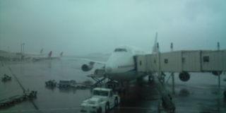 揺れる飛行機