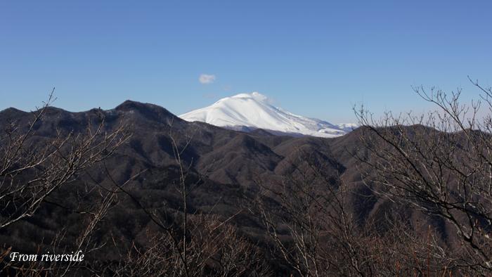 角落山から鼻曲山と浅間山