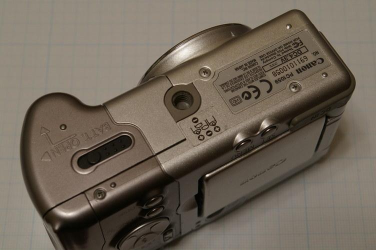 下から Canon Powreshot A80