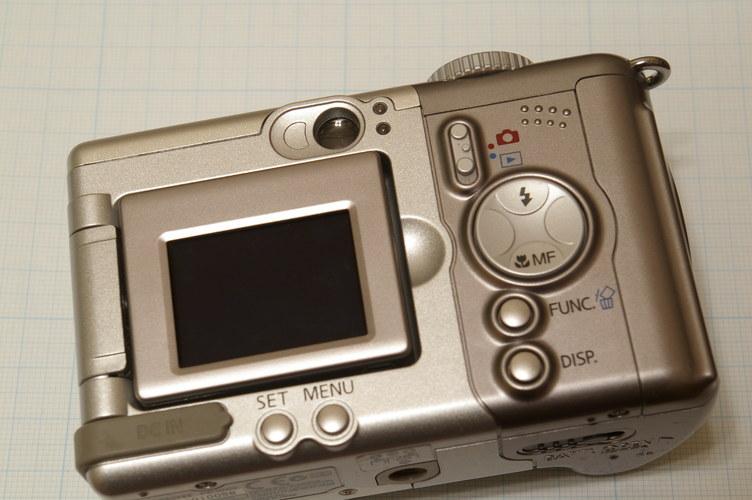 Canon Powreshot A80 画面
