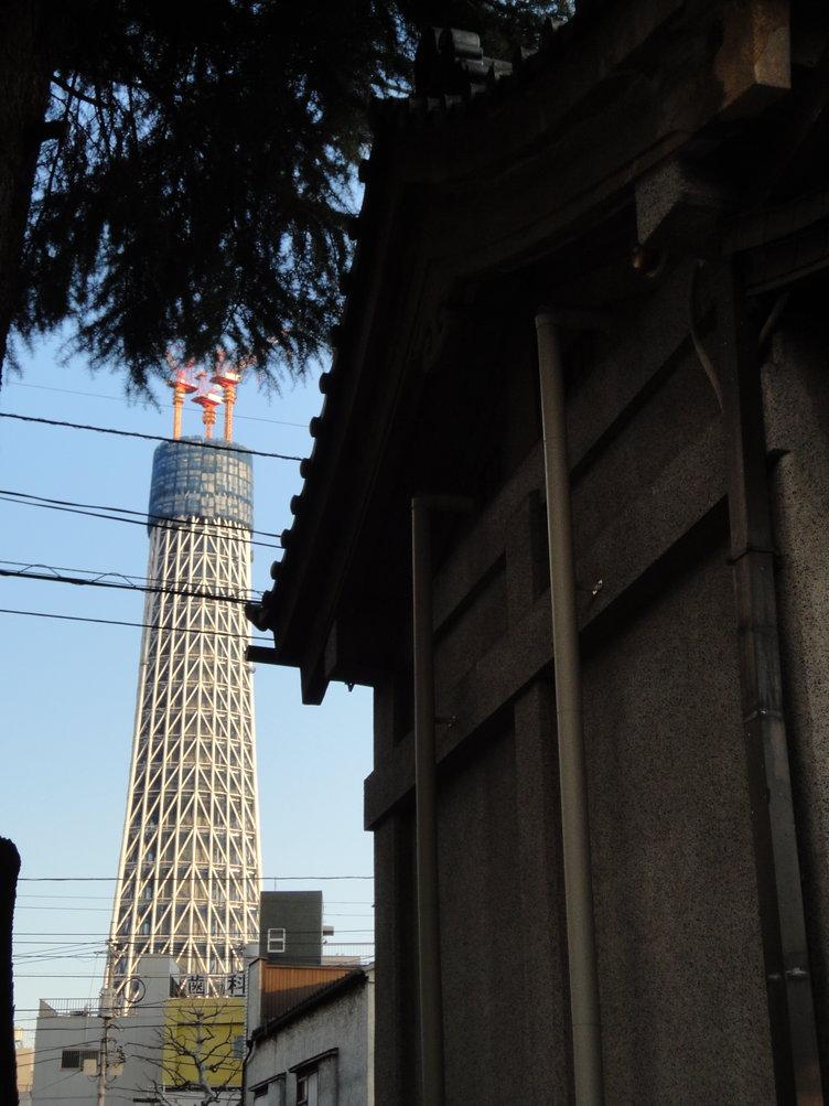 牛嶋神社から東京スカイツリー
