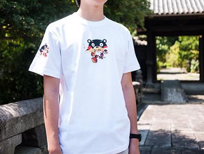 くまモン 和柄 Tシャツ コーデ