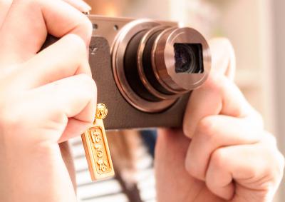 木札 名入れ ストラップ カメラ
