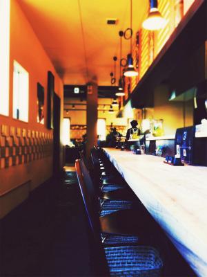熊本 ラーメン 麺空間 灯かり