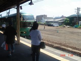 ゆふいんの森号・・・美しい列車です。