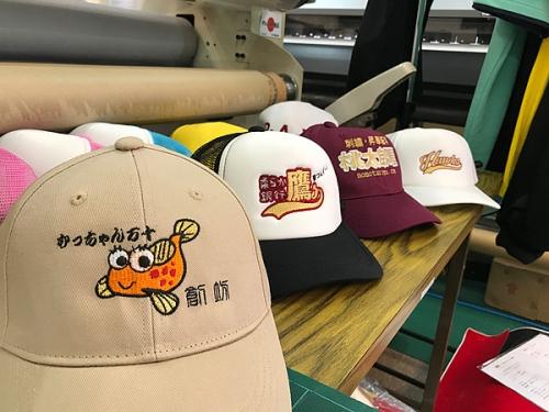 帽子への刺繍