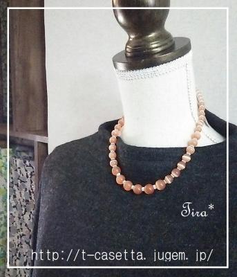 天然石ネックレス 手作り ハンドメイド
