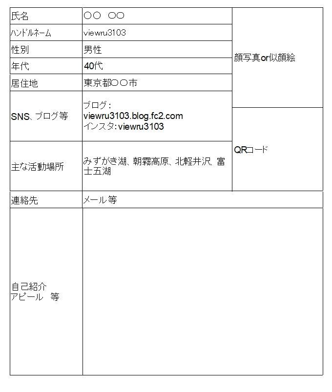撮影者情報シート2