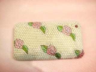 iPhone 薔薇デコ電