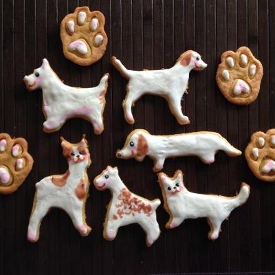犬アイシングクッキー