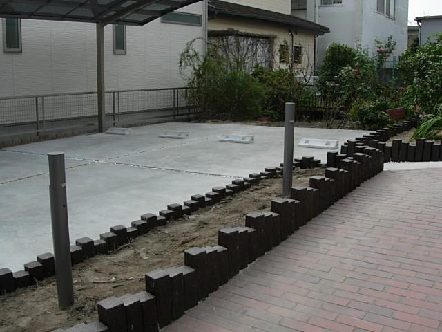 電動式ゲートと広い駐車場が完成しました5