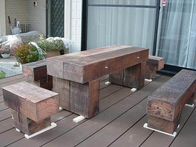 まくら木テーブルを作りました3