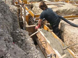 基礎コンクリートの打設2