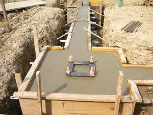 基礎コンクリートの打設3