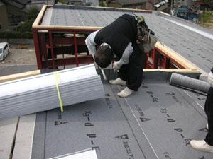 屋根ルーフィング敷き2