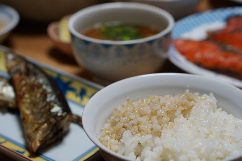 2食ご飯(無農薬の玄米と白米)
