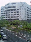 ホテルの窓から見た景色