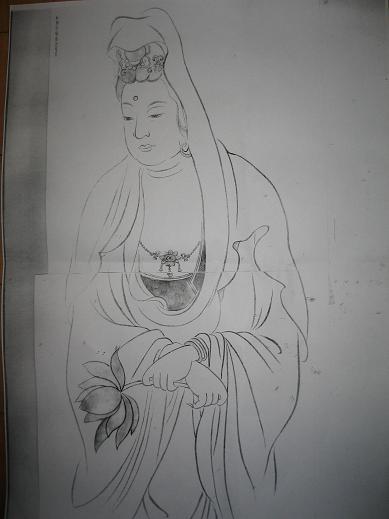 第一希望が、八頭身の聖観音像。 八頭身の頭に、宝冠をかぶり、蓮華にのっ... 手描きは、お誂え(