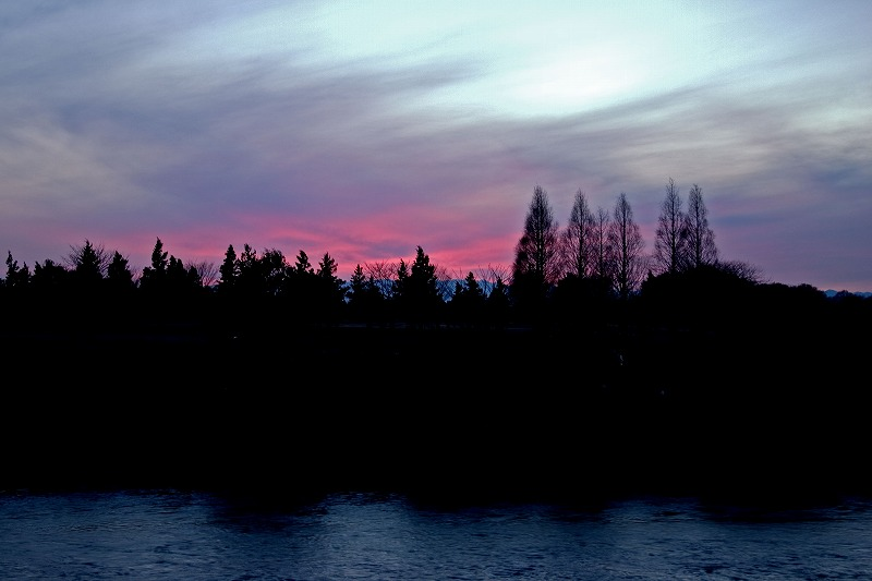 赤い夕焼け