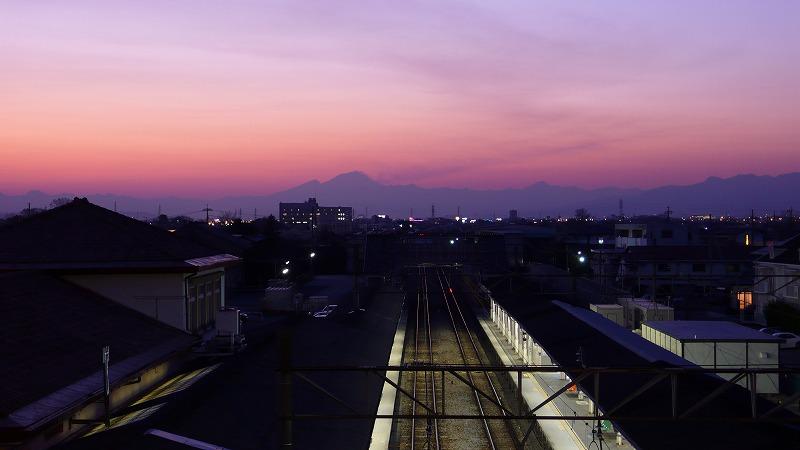 夕焼けと赤城山1