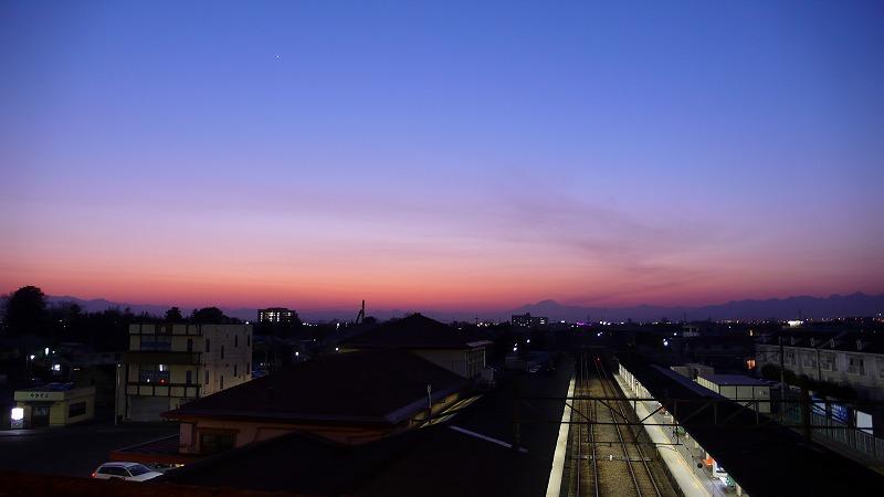 夕焼けと赤城山2