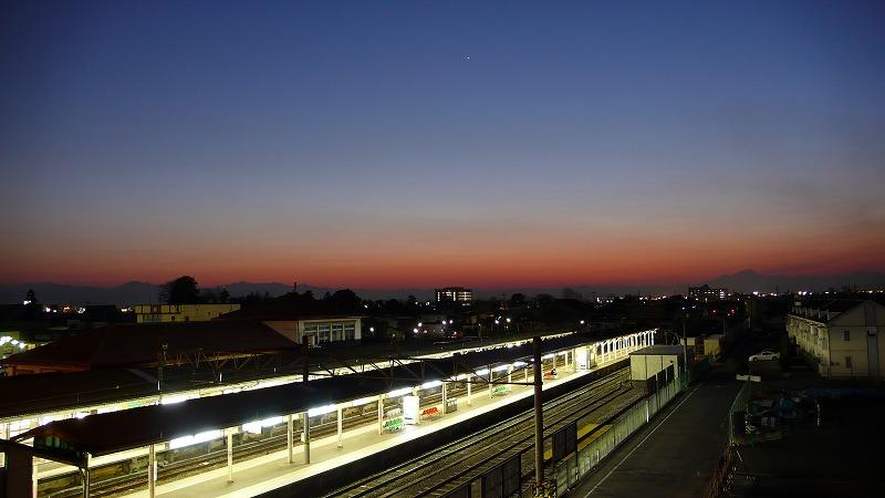 夕焼けと赤城山3