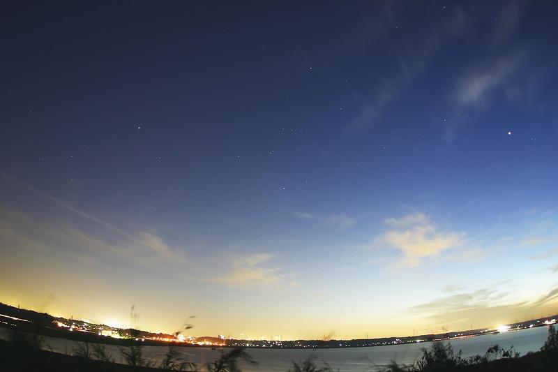 印旛沼の星空