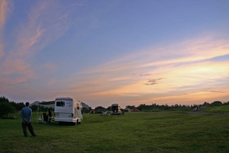 夕焼けの内山牧場