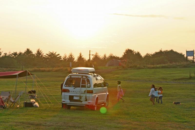 夕陽の内山牧場2