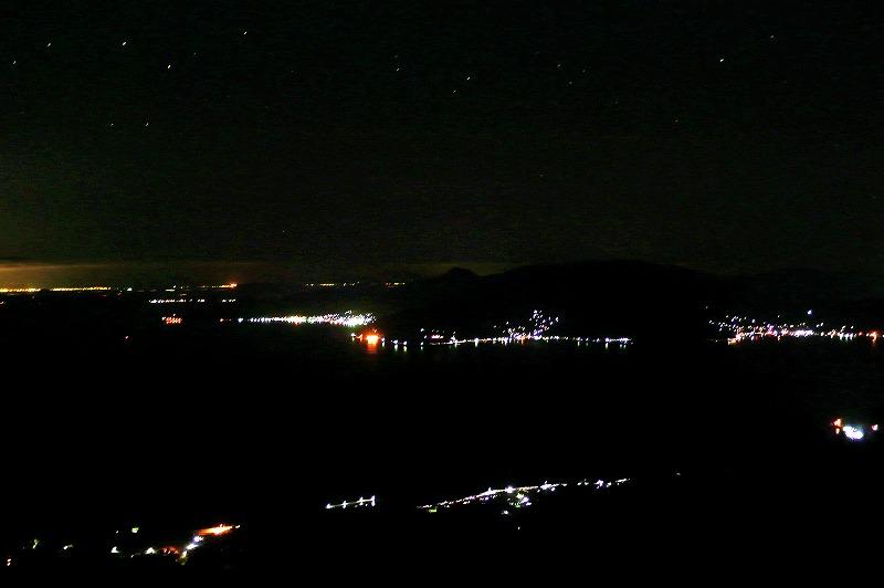 瀬戸内海の夜景