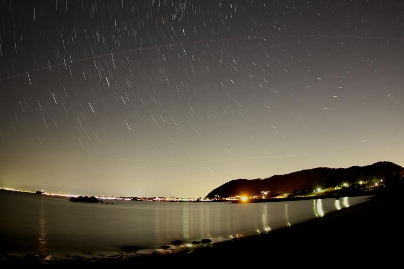 長者ヶ崎海岸と星空