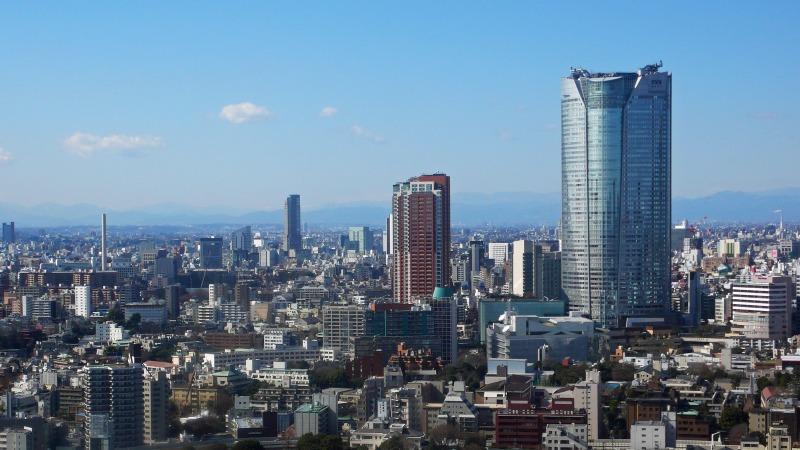 東京タワー展望台から見た六本木ヒルズ
