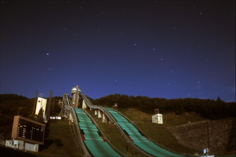 白馬ジャンプ競技場と沈む北斗七星2