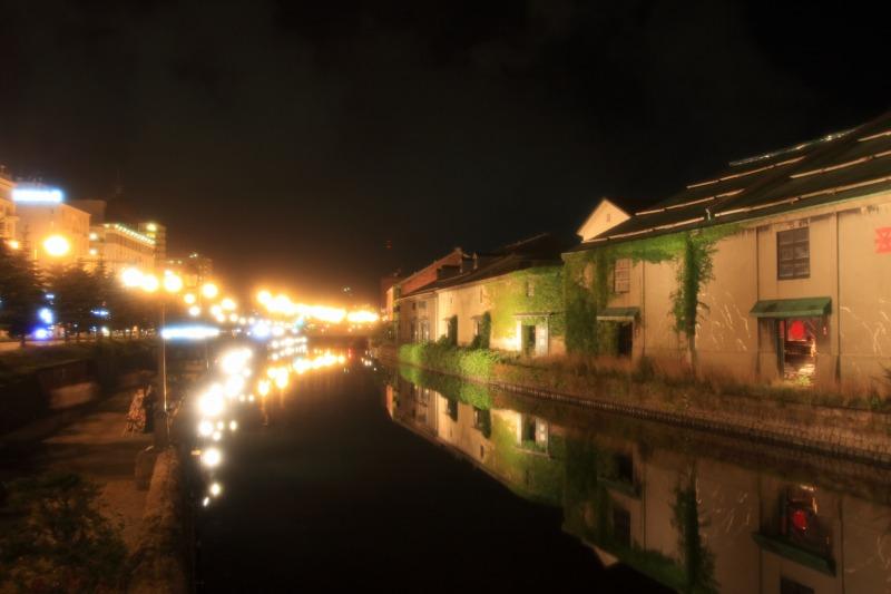 小樽運河の夜景(フィルター)