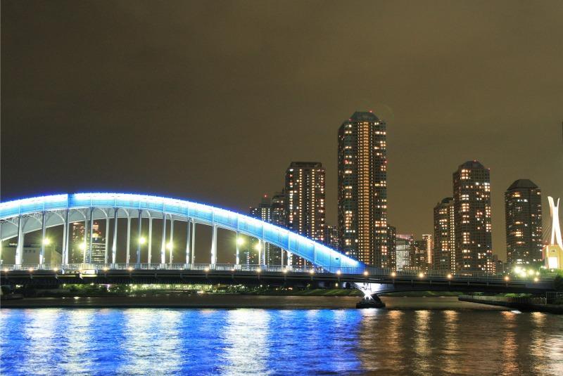 永代橋とリバーシティの夜景2