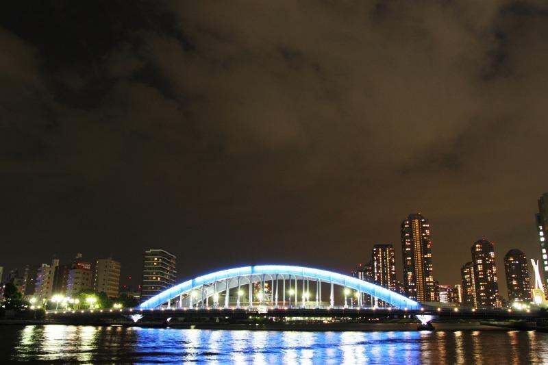 永代橋とリバーシティの夜景4