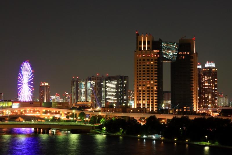 東京ビックサイトから見たお台場の夜景