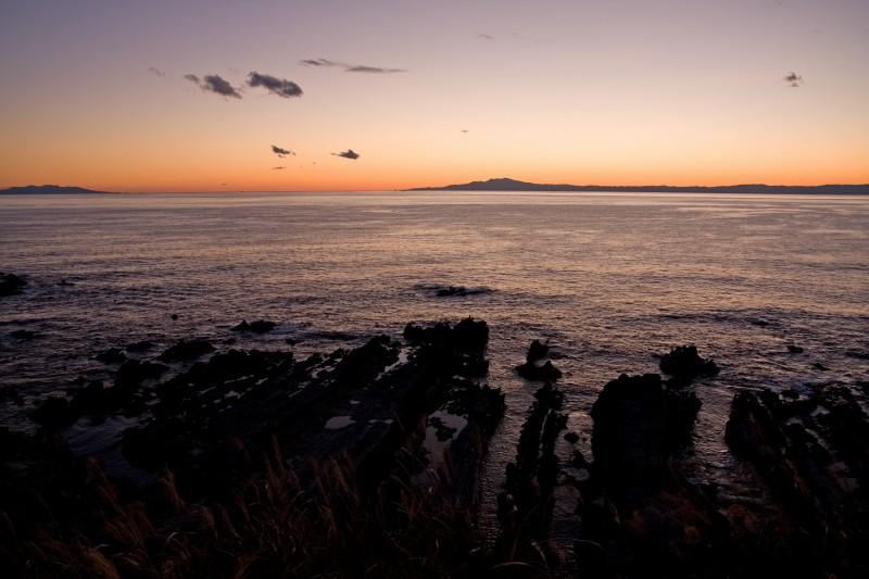 荒崎海岸の黄昏