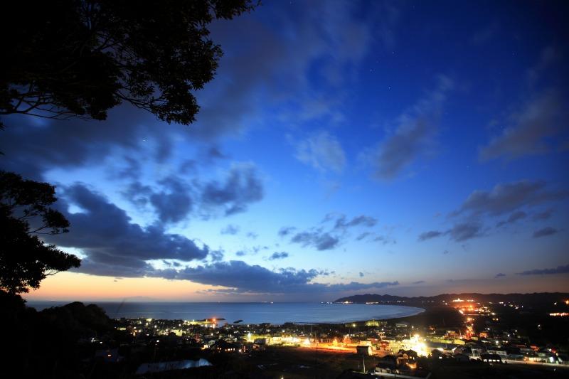 館山野鳥の森からの夜景