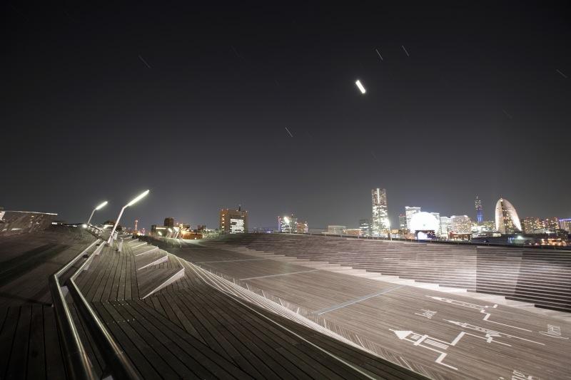 大さん橋デッキから見た星空2